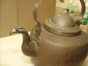 Vintage Antique Handmade Old Copper Kettle Arts Crafts