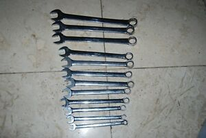 Snap On Vintage 12 Pc Metric Combination Wrench Set 10 22 Mm No 19