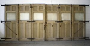 20 X107 H Antique Vintage Victorian Wood Carriage House Garage Door Glass Window