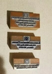 3 Vintage Letterpress Printing Wood Block Printer Letters Medical Center Ems Wi