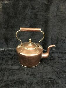 Very Large Antique Victorian Copper Kettle Dovetail Seam Rivets