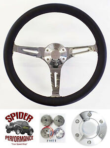 1965 1969 Fairlane Ranchero Galaxie 500 Steering Wheel 15 Black Leather