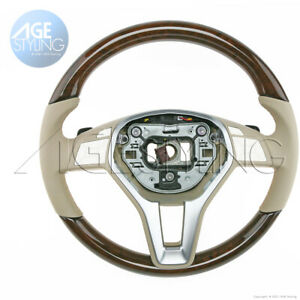 Oem Mercedes Benz Cls350 Cls550 Cls63 Walnut Wood Almond Leather Steering Wheel