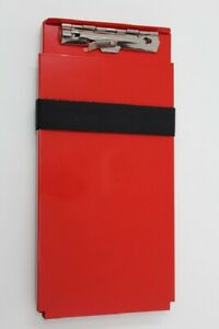 Posse Box Tts43 pc red Aluminum Powder Coat Red Ticket Tender Clipboard