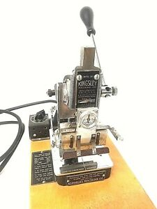 Kingsley Machine Model M 50 Two Line Gold Hot Foil Stamping Machine Antique