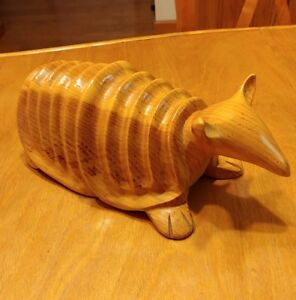 Large Carved Armadillo By Artistic Carving Co Wood Wooden
