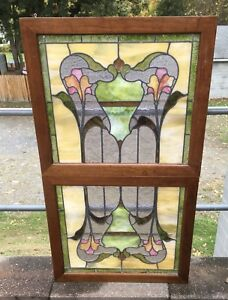 Victorian Leaded Stained Glass Window