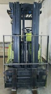 Clark Tm17 Forklift Mast Triple Stage 170 Lift Side Shifter From Working Unit