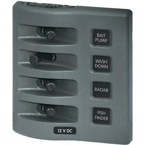 Blue Sea 4305 Weatherdeck 12v Dc Waterproof Switch Panel 4 Posistion