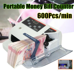 Protable Money Bill Cash Counter Bank Currency Counting Detector Uv