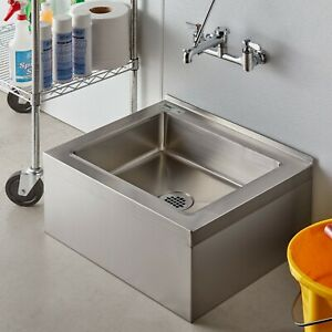 25 Stainless Steel Nsf One Compartment Floor Mop Sink 20 X 16 X 6 Bowl