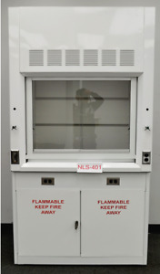 4 Foot Laboratory Chemical Fume Hood With Flammable Cabinets Surplus R