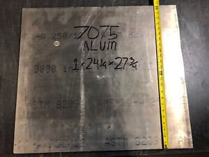 1pc 1 X 24 1 4 X 27 3 4 7075 Aluminum Plate Multiple Available