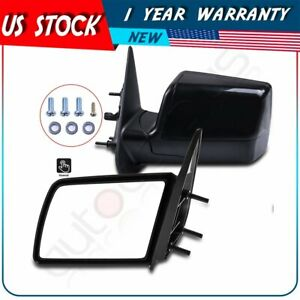 For 88 99 Chevy Gmc Pickup Truck Manual Side Mirrors Pair Set Left Lh