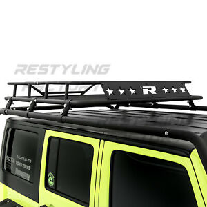 Top Luggage Cargo Roof Rack System Basket Only For 07 18 Jeep Wrangler Jk 4 Door