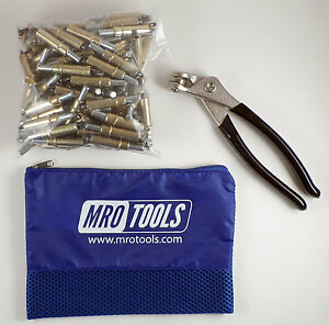 50 3 16 Cleco Sheet Metal Fasteners Plus Cleco Pliers W carry Bag k1s50 3 16