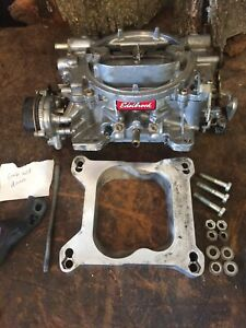 Edelbrock Performer 1406 600 4 Barrel Carburetor Electric Choke Clean Extras
