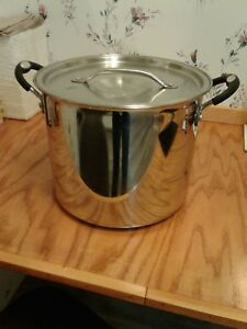Tramontina Professional 12 Quart 18 10 Stainless Steel Stock Pot W cover Italy