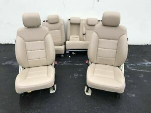 2011 Mercedes Ml350 W164 Seats Front And Rear Set 26k Almond Beige