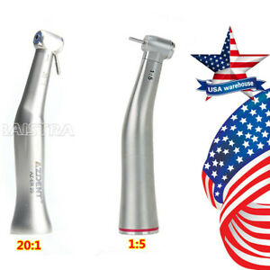 Nsk Style Dental 1 5 20 1 E type Push Button Contra Angle Low Speed Handp
