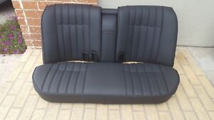 Bmw E28 528i 535i 535is Black 100 Leather Rear Upholstery Kit New