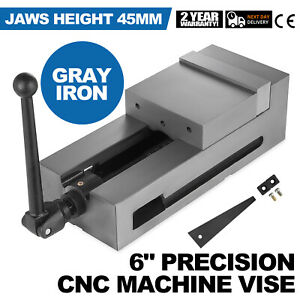 6 Cnc Vise Gray Cast Iron Clamping Fixed Jaw Detachable Flat Vise Milling