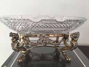Antique Pairpoint Figural Silverplate Centerpiece Egyptian Revival As Is Bowl