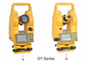 Electronic Dt2a Digital Transit theodolite For Surveyors Contractors Package