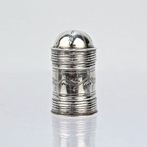 18c English Sterling Silver Nutmeg Grater John Turner Birmingham 1799 Sl