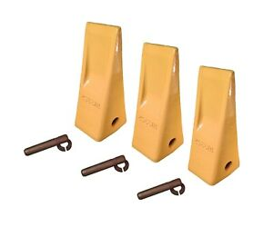 Caterpillar Style Bucket Teeth With Pins Retainers Set Of 3 1u3352 J350
