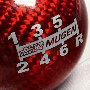 Jdm Style Mugen Shift Knob For Honda Rsx Civic Type R S2000 Red Carbon 6 Speed