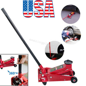 3 Ton Heavy Duty Steel Low Profile Floor Jack Rapid Pump Show Car Lowrider Usa