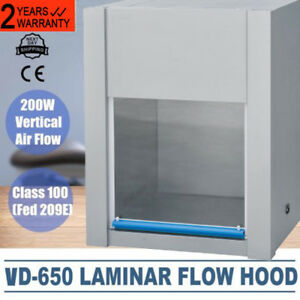 Vd 650 Ventilation Laminar Flow Hood Air Clean Bench Workstation 300lx