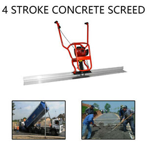 37 7cc 4 Stroke Gas Concrete Wet Screed Power Screed Cement 6 56ft Board 5200rpm