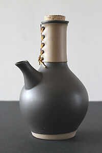 Mid Century Marshall Studios Jane And Gordon Martz Ceramic Leather Carafe Black