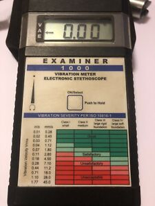 Monarch Instruments Examiner 1000 Vibration Meter Electronic Stethoscope Usa