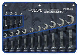 Platinum Tech 14pc 4 way Open End Metric Angle Wrench Set 6 19mm 99420