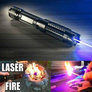 Thor H Blue Light Laser Pointer Pen 450nm Laser Burning Match 5 Star Caps