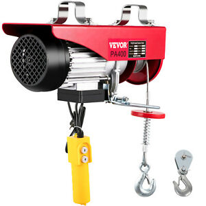 880lb Electric Hoist Winch Lifting Pa 440 Engine Crane Ceiling Pulley Overhead