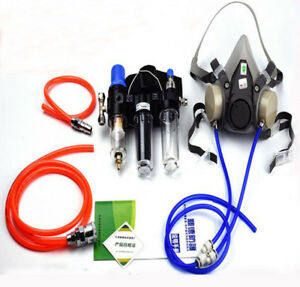3 In 1 Panting Spray Supplied Air Fed Respirator System 6200 Half Face Gas Mask