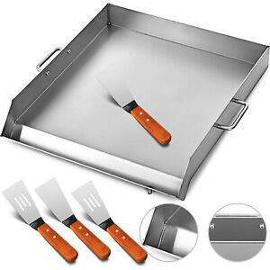 Heavy 32 X 17 In Wide Stainless Steel Flat Top Griddle Grill Single Burner Stove