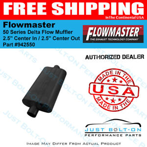 Flowmaster 50 Series Delta Flow Muffler 2 5 Center In 2 5 Center Out 942550