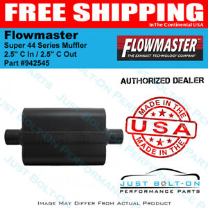 Flowmaster Super 44 Series Muffler 2 5 C In 2 5 C Out Aggressive 942545