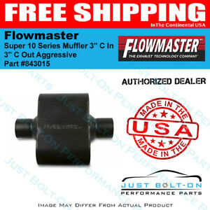 Flowmaster Super 10 Series Muffler 3in C In 3in C Out Aggressive 843015