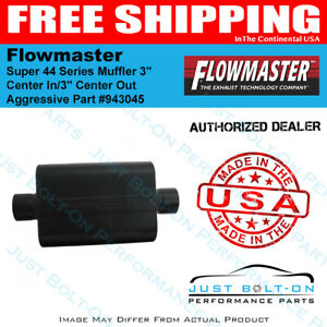 Flowmaster Super 44 Series Muffler 3 Center In 3 Center Out Aggressive 943045