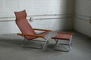 Ny Folding Chair With Ottoman By Takeshi Nii