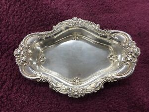Antique Wallace Sterling Silver Repousse Tray 4114 Nut Dish Candy Bowl