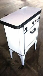 Antique Magic Chef Gas Stove White Porcelain 20s 30s 3 Burner Kitchen Apartment