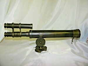 Hand Crafted Nautical Decor Tripod Mounted Brass Telescope