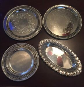 Lot Of 4 Wm Rogers Trays